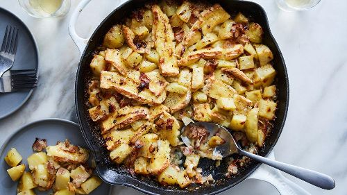 Take a trip to the Alps with velvety potatoes and smoky bacon