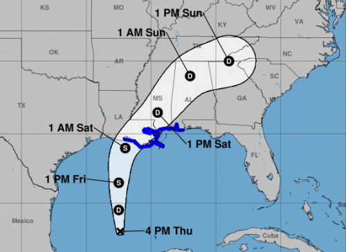 Tropical storm warning issued for parts of Louisiana as disturbance in Gulf heads toward coast