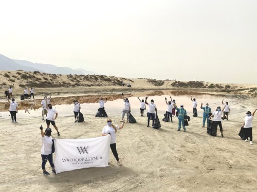 Waldorf Astoria Ras Al Khaimah supports 'pink lake' clean-up