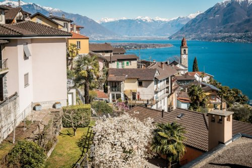 Ascona, Wandern im Frühling im Tessin
