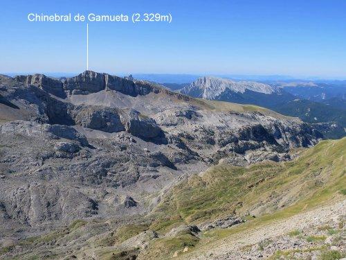 Chinebral de Gamueta (2.329m) desde Linza.