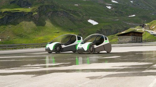 Chainless Electric-Assist Velomobile Is a Human-Sized Transport Solution