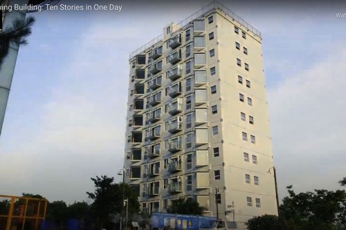 10 Story Apartment Building Assembled in 1 Day