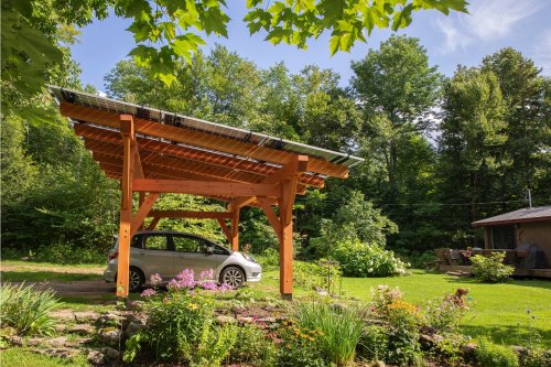 Solar Canopies Protect Your Car and Charge It Too