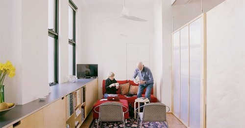 Elderly Downsizers' Small Apartment Is Renovated For Aging In Place
