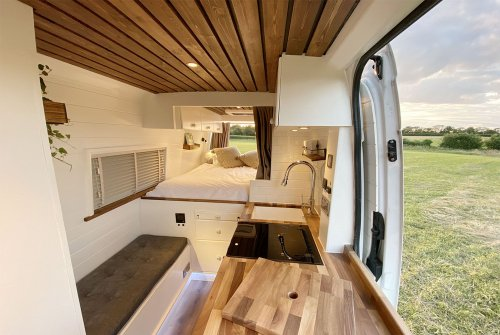 Former Army Captain and Doctor Build a Smart Van Conversion With Shower