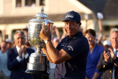 Phil Mickelson was declared the winner of PGA Championship of Golf tournament at the age of 50!