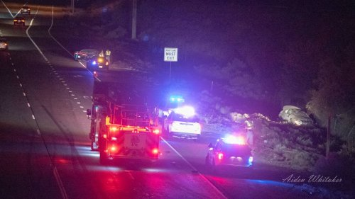 Driver slams into car, flipping it off Richland highway. Then runs away