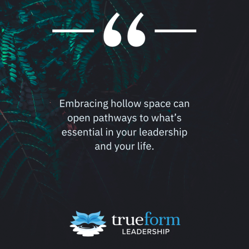 The Poetry of Leadership: Embracing Hollow Space