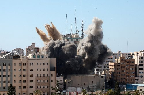 Israeli Bombs Destroy Gaza Media Center, Take Out AP, Al Jazeera and Others