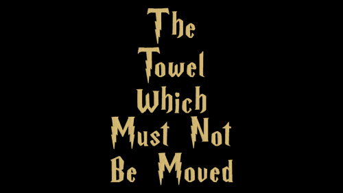 Free Machine Embroidery File: The Towel Which Must Not Be Moved