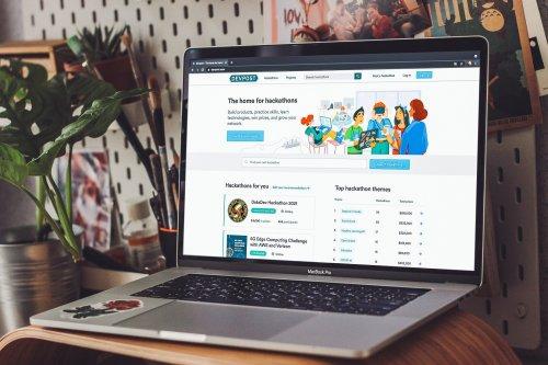Case Study: Devpost. Hero Illustrations for Hackathons Platform