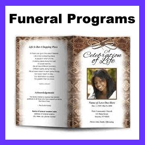 Funeral Programs Templates — Funeral Programs Templates