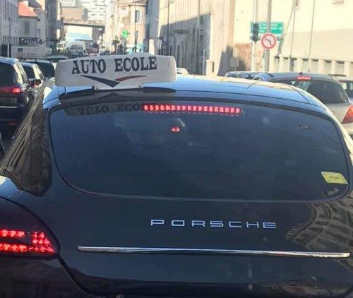 A Marseille, des Porsche Panamera d'auto-école ?