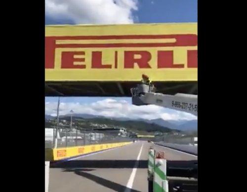 VIDEO - Quelqu'un a fait une grosse bêtise au GP F1 de Russie