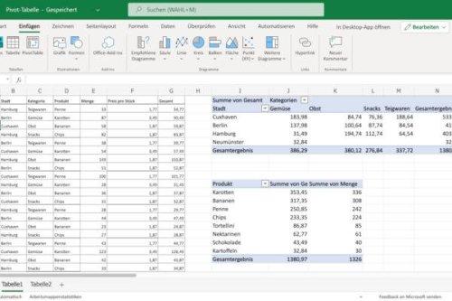 Pivot-Tabelle erstellen in Excel: So funktioniert's