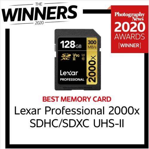 La scheda 2000x di Lexar è stata nominata Best Memory Card