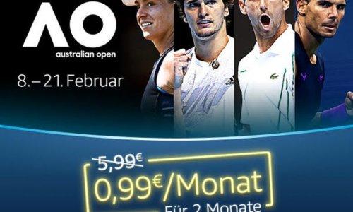 Australian Open für 99 Cent mit Amazon Prime Video