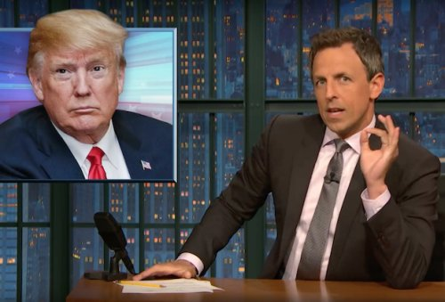 Irate Seth Meyers Refuses to Grant Trump Credit for Immigration Executive Order: 'You're a F—king Monster'