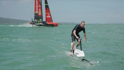 Kiwis behind hydrofoiling bike continuing to dream big - 'It could end up in the Olympics'