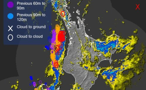 Severe thunderstorm watch in place for parts of North Island
