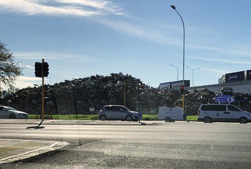 Mayor lashes out at company over mountainous scrap metal pile dumped in South Auckland