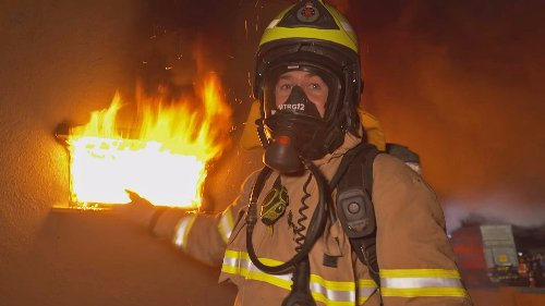 Controlled fire drill shows how quickly a house can go up in flames