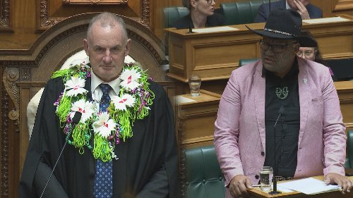 Māori Party co-leader Rawiri Waititi performs haka in Parliament, ordered to leave