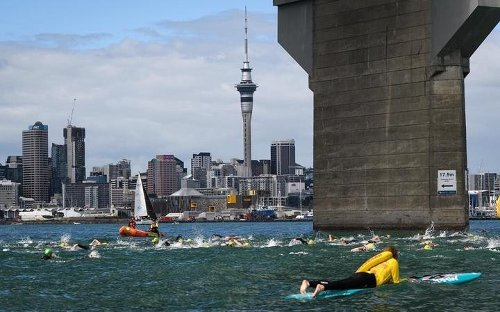 Woman needs surgery after knee 'sliced to bone' in ocean swim event