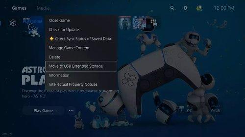 Eerste grote update PS5 voegt optie toe om games op externe opslag op te slaan