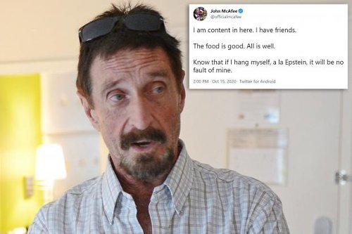 John McAfee mentioned Jeffrey Epstein months before his own 'suicide'