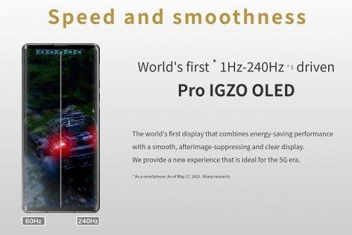 Sharp Aquos R6 smartphone packs insane 240Hz OLED display