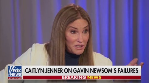 Caitlyn Jenner, speaking from her plane hangar, says friends are fleeing California because of homeless people