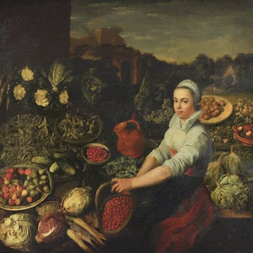 For centuries, a Dutch vegetable seller smiled in a painting. Then experts discovered her real expression.