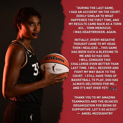 Angel McCoughtry Has Torn ACL