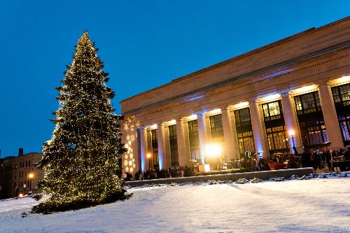 Union Depot is looking for a Christmas tree. Yes, a giant evergreen.