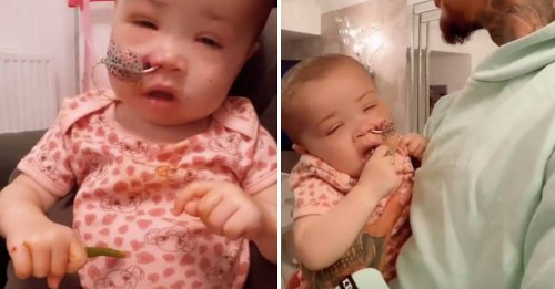 Ashley Cain's Daughter Azaylia Eats For The First Time In Two Weeks