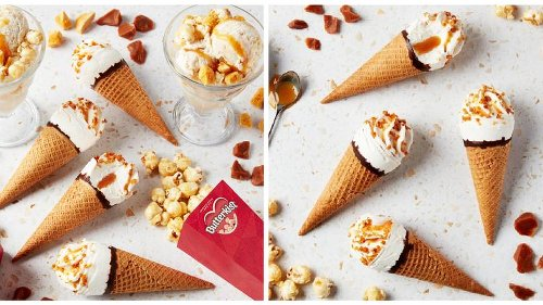 Butterkist Launches Toffee & Popcorn Flavour Ice Cream Cones