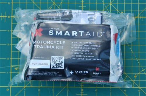 TACMED Smartaid Motorcycle Trauma Kit: Items Plus QR Code On How to Use Them