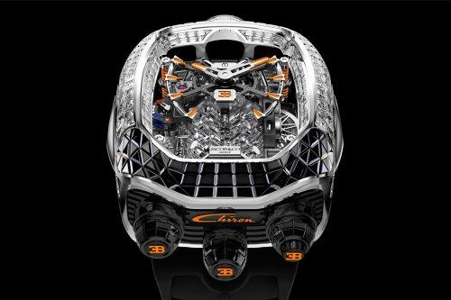 Jacob & Co. Bugatti Chiron Tourbillon Baguette Black and Orange Watch