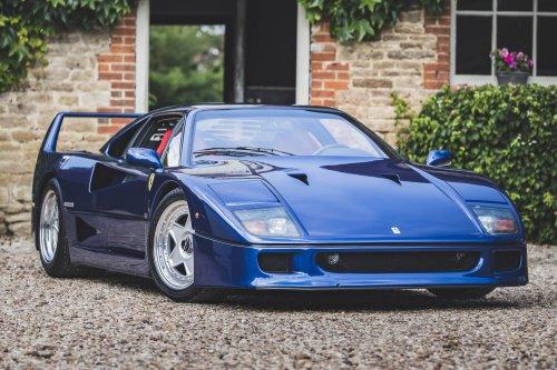 1989 Ferrari F40 Blue Coupe
