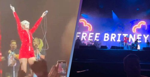Miley Cyrus Proclaims 'Free Britney' At Festival Headline Set