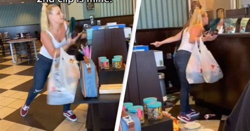 'Karen' Caught On TikTok Destroying Book Store While Swearing And Screaming At Staff