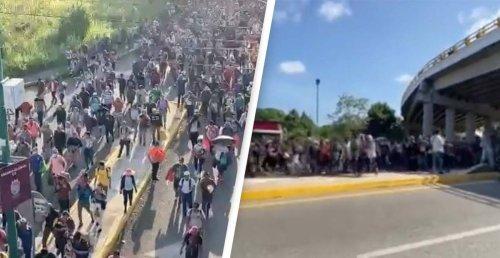 Large Migrant Caravan Overruns Police On Journey To US