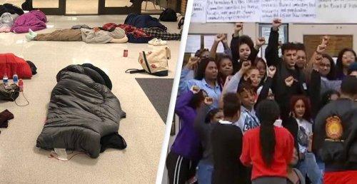 University Students Sleep In Hallways To Protest 'Inhumane' Living Conditions