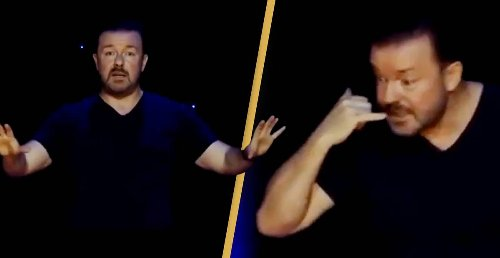 Ricky Gervais Shares Hilarious Stand Up Routine Of What Twitter Is Actually Like