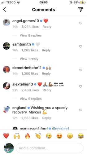 Alex Telles and former Manchester United players react to Marcus Rashford's message