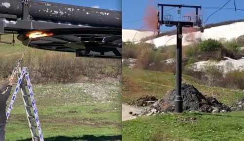 WATCH: Blowtorch Snaps Chairlift Haul Rope, Chaos Ensues
