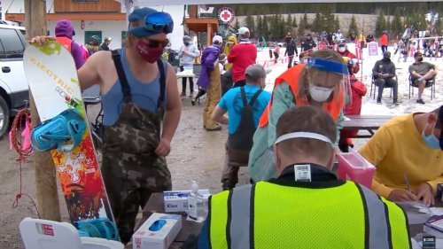 A-Basin Delivers Hundreds of Vaccinations in World's First Ski-In Clinic