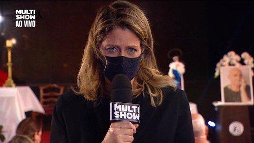Repórter chora na transmissão ao vivo da missa de sétimo dia de Paulo Gustavo